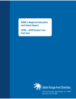 Regional Education & Talent Report (Part One) 2018 - 2019